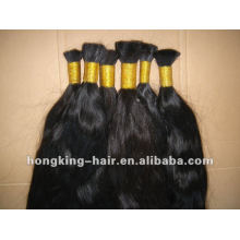 100% human virgin hair bulk hot sale indian remy hair