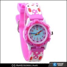 Meninas de qualidade pulseira 3D relógios crianças