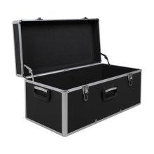 Large Transport Aluminum Tool Storage Case in Black