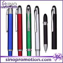 2 em 1 multi-função caneta esferográfica borracha ponta caneta de toque