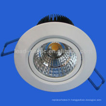 10w / 20w / 30w cob led downlight blanc / nickel 3/4/6/8 inch