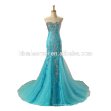 2017 dentelle robe de mariée noir / bleu longue robe de mariée en gros de haute qualité