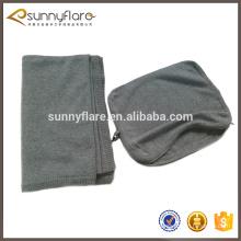 popular travel pillow fleece cashmere knitted blanket eye mask set