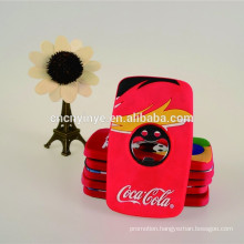 Fashion fridge magnet soft pvc bottle opener