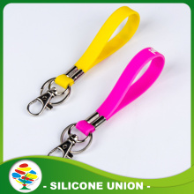 Multi color Silk Screen Printed Silicone Keychain