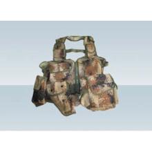 Desert military camouflage field vest