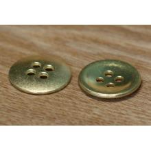 Bouton personnalisé personnalisé en métal Gold Shell pour jeans