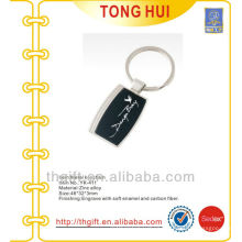 Top quality name printing metal keychains w/gift boxes