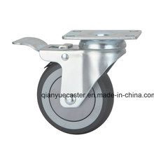 Top Grade Medium Duty Caster, TPR Brake Caster