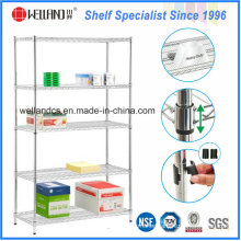 Metro Commercial Used Chrome Metal Wire Shelving Rack