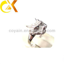 2013 pulido 316L hombres de acero inoxidable en forma de dragón anillos
