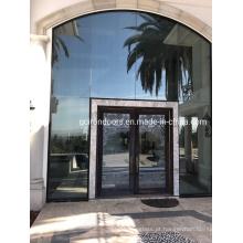 Portas de entrada externas de ferro forjado com vidro temperado