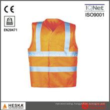 Hi Vis Knitted Police Reflective Cheap Safety Vest