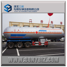 China Marca 50m3 LPG Gas Tráiler