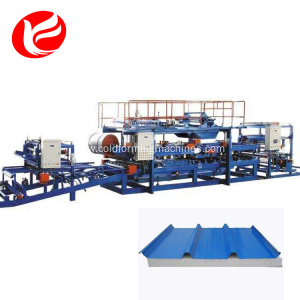 Eps insulated rock wool sandwich tile roof panel machine