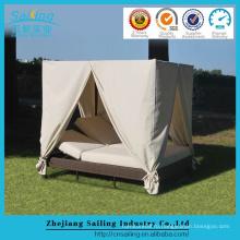 PE ротанга мебель фарфор роскошный шезлонг на открытом воздухе