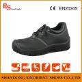 Сертификат Ce Black Black Buffalo Leather ESD Chef Safety Shoes RS046