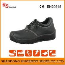 Ce Zertifikat Schwarz Buffalo Leder ESD Chef Sicherheit Schuhe RS046