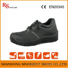 Ce Certificat Black Buffalo Leather ESD Chef Safety Shoes RS046