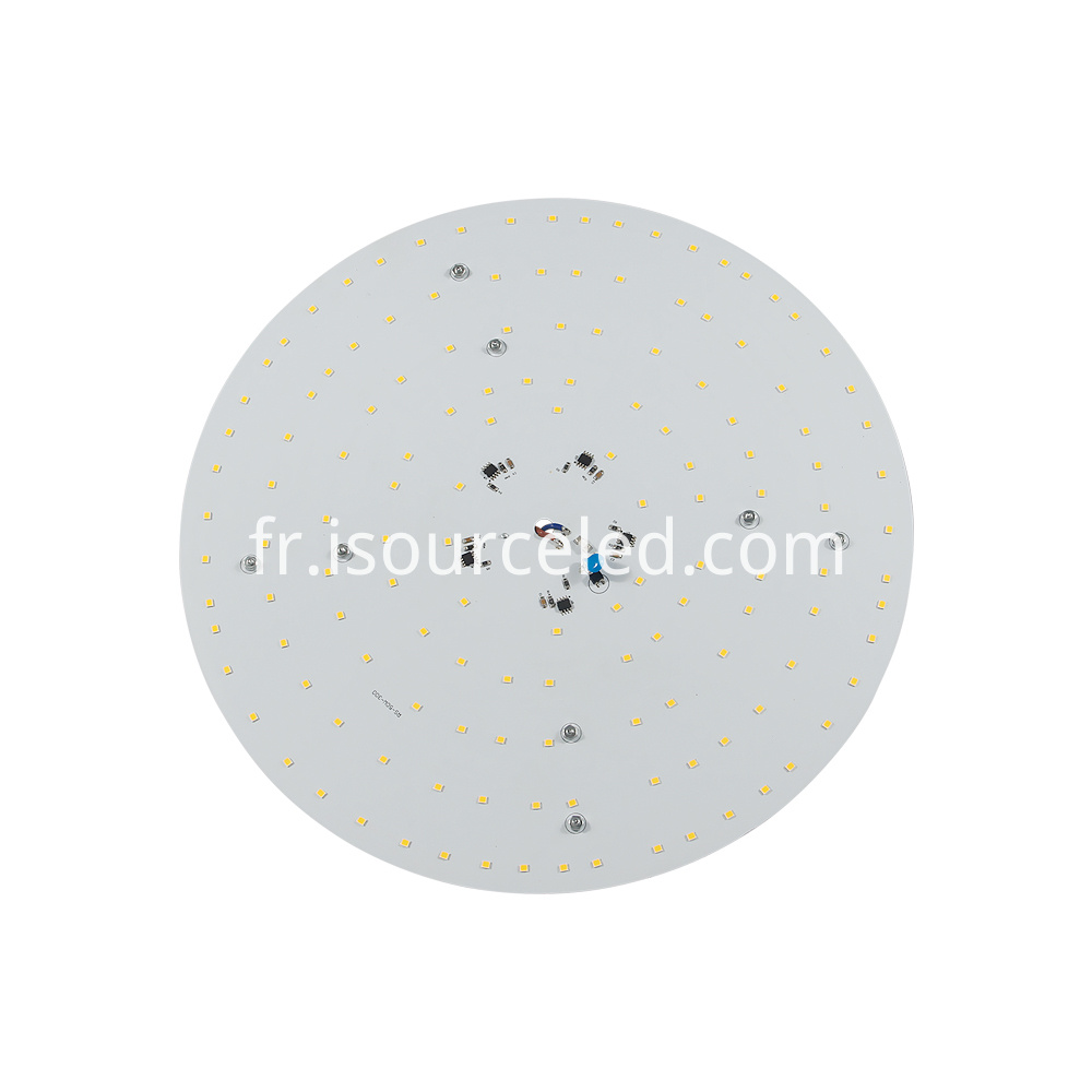 Front view of 220v SCR dimming round 50W AC LED Module