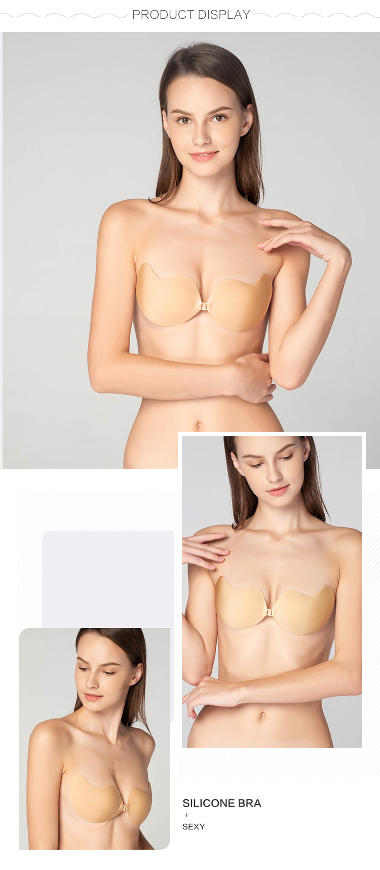 Women strapless bra-product display
