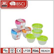 Comida de microondas plástico recipiente (0,45 L) 4pcs