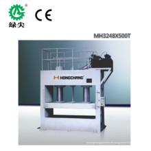 Volle automatische Melaminkaschierpresse mit kurzem Zyklus Melamin / Holzbearbeitungsmaschine / Laminierpresse