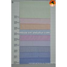 tela de algodón stripe100% para camisas