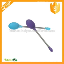 Varying Colors Silicone Spoon Coffee Milk Spoon