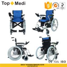 Fauteuil roulant électrique pliable en aluminium de promotion de Topmedi pour le transport
