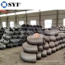 Welded steel pipe fitting connector fastener 90 deg elbow Carbon Steel Pipe Fitting