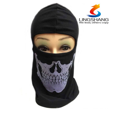 2015 NEW CS Cosplay Ghost Skull Black Face Mask Cap Motorcycle Biker Multi functional Skeleton Hat Scarf Balaclava