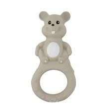 Teether brinquedos em forma de rato, brinquedo de borracha do bebê, Teether Rubber Gift