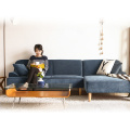 Nordic Style Small Living Room Sofa Corner Sofa Fabric Sofa Sectional Sofa