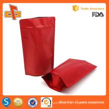 Wiederverwendbare Stand up maßgeschneiderte Druck Lebensmittel Verpackung Reißverschluss Stand up Beutel