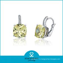 2014 Мода стерлингового серебра 925 серьги камень (SH-E0049)