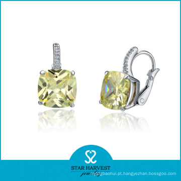 Preço de fábrica 925 Sterling Silver CZ Earring (E-0049)