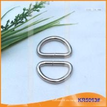 Tamaño interior 24mm Metal Hebillas, Regulador de metal, Metal D-Ring KR5063