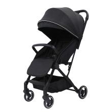 Carrinho de criança duplo leve dobrável para viagem duplo guarda-chuva preto