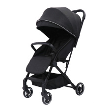 Двойная легкая прогулочная коляска для путешествий Складная двойная прогулочная коляска с зонтиком, черная