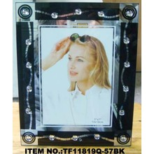 Crystal Bead Silk Screen Glass Photo Frame