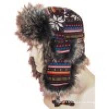 Chapeau d'hiver avec fourrure fabriquée à l'homme (VT034)