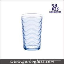 Coupe de verre ondulée bleue (GB02B6808B)