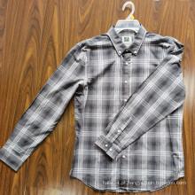 Camisas 100% algodão para adultos Camisas masculinas de manga comprida