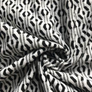 New Delivery for Polyester Jacquard Polyester Jacquard black white knitting fabric supply to Romania Supplier