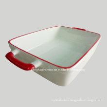 White Color Glaze Ceramic Bakeware