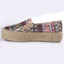 Женская обувь холст обувь с Пеньковой веревкой резиновая подошва СНС-28065