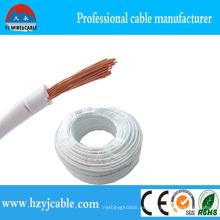 Cable de alimentación de alambre eléctrico no revestido del PVC del núcleo de cobre aislado