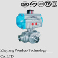 Italy Wafer Type Stainless Steel Float Pnematic Ball Valve 316