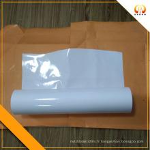 Opaque Whtie PET film 100 microns pour plaque de chauffage en carbone